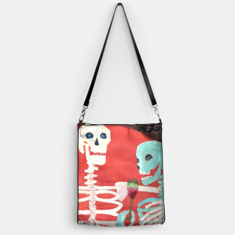 Thumbnail image of three skeletons Handbag, Live Heroes