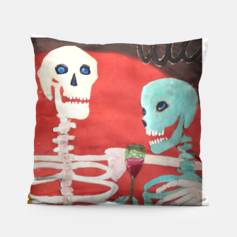 Thumbnail image of three skeletons Pillow, Live Heroes