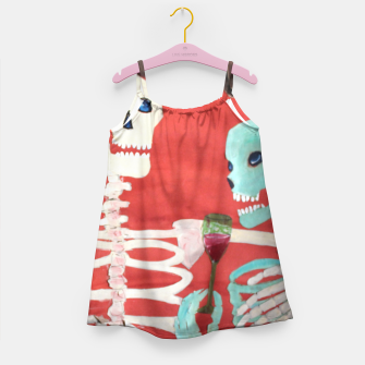 Thumbnail image of three skeletons Girl's Dress, Live Heroes