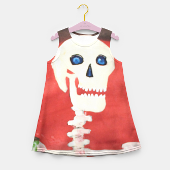 Thumbnail image of three skeletons Girl's Summer Dress, Live Heroes
