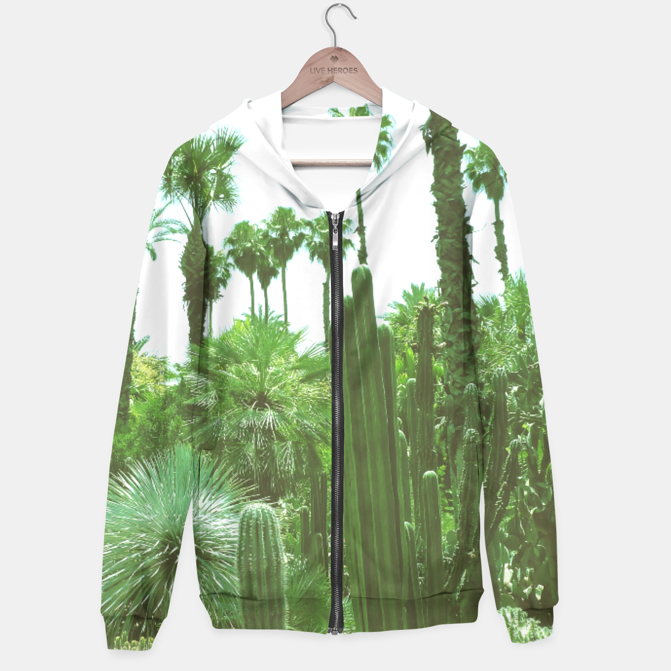 Image of Tropical Cacti Gardens and Greenery Hoodie - Live Heroes