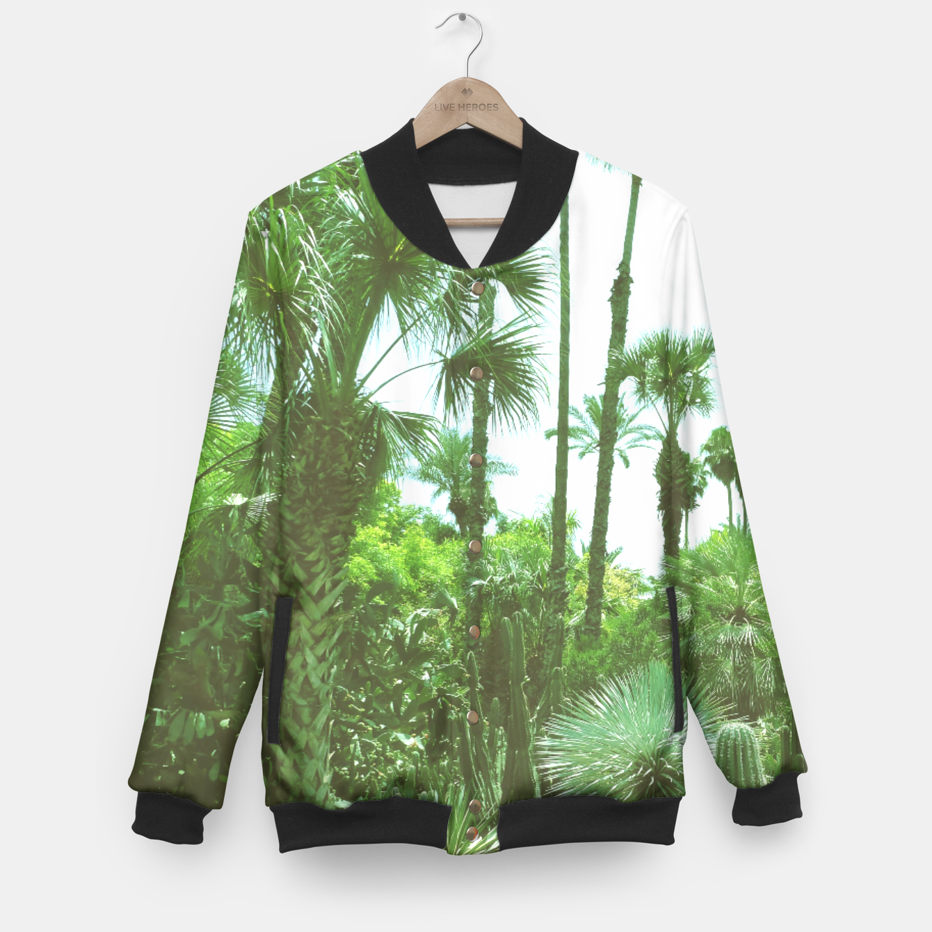 Image of Tropical Cacti Gardens and Greenery Baseball Jacket - Live Heroes