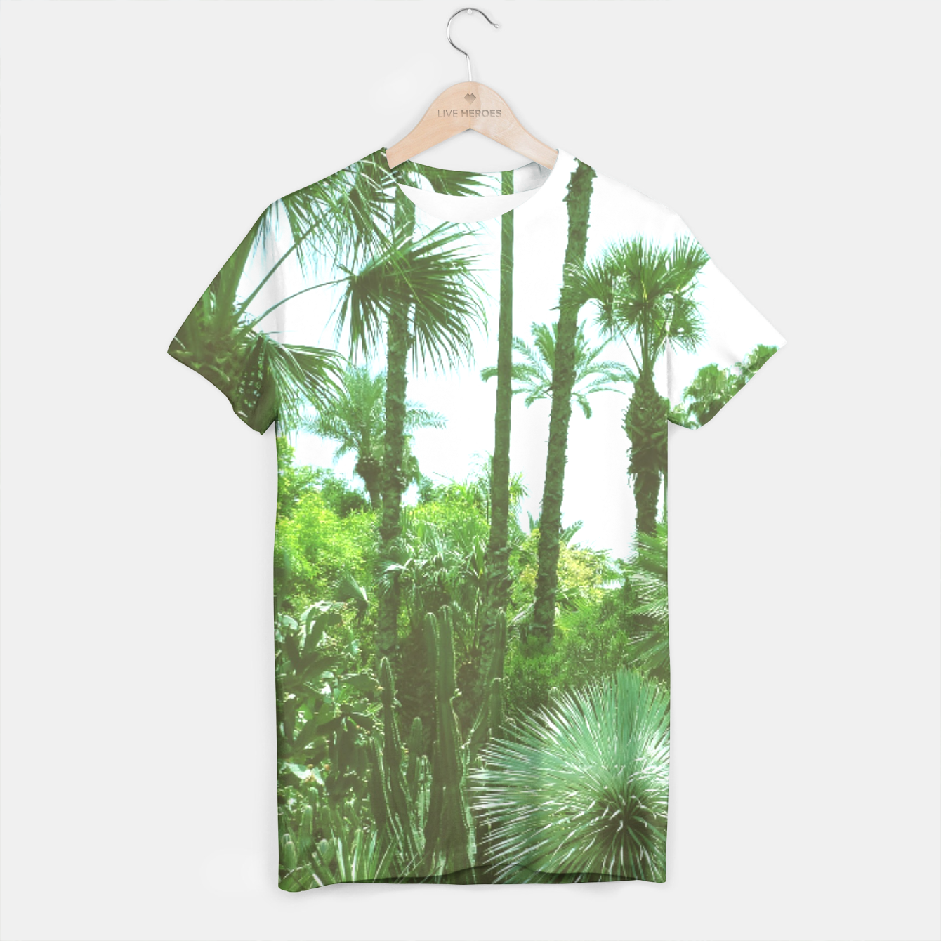 Image of Tropical Cacti Gardens and Greenery T-shirt - Live Heroes