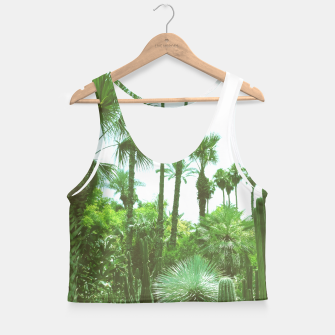 Tropical Cacti Gardens and Greenery Crop Top thumbnail image