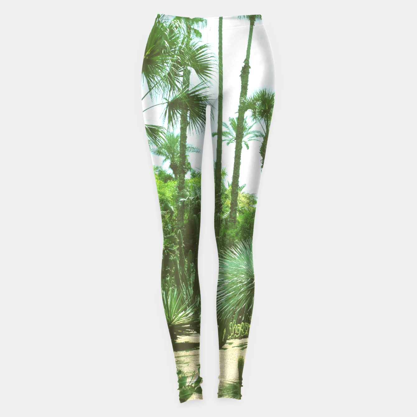 Image of Tropical Cacti Gardens and Greenery Leggings - Live Heroes
