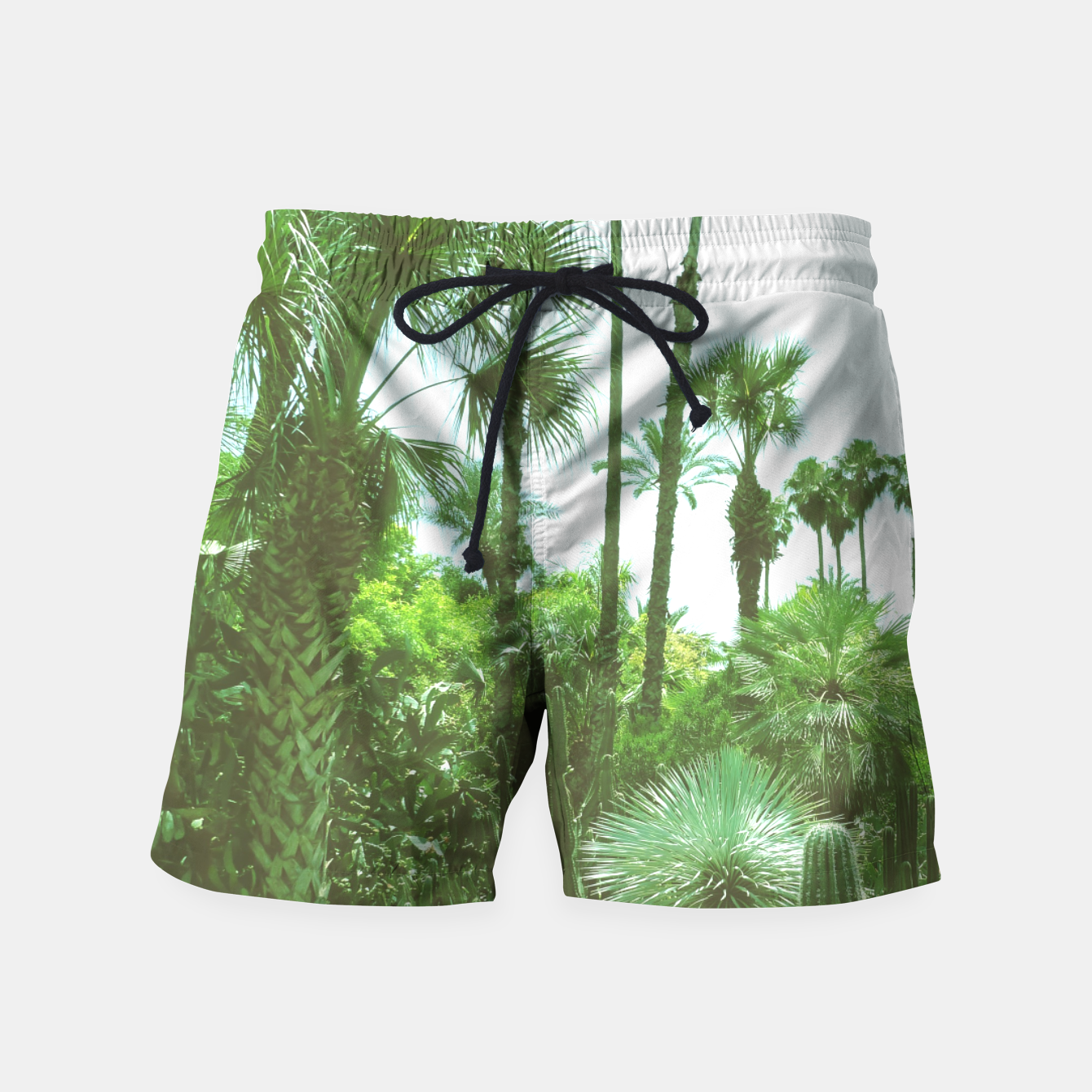 Image of Tropical Cacti Gardens and Greenery Swim Shorts - Live Heroes