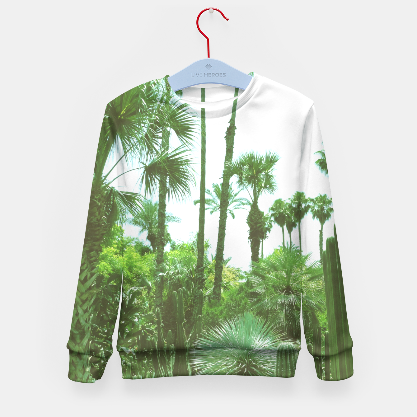 Image of Tropical Cacti Gardens and Greenery Kid's Sweater - Live Heroes