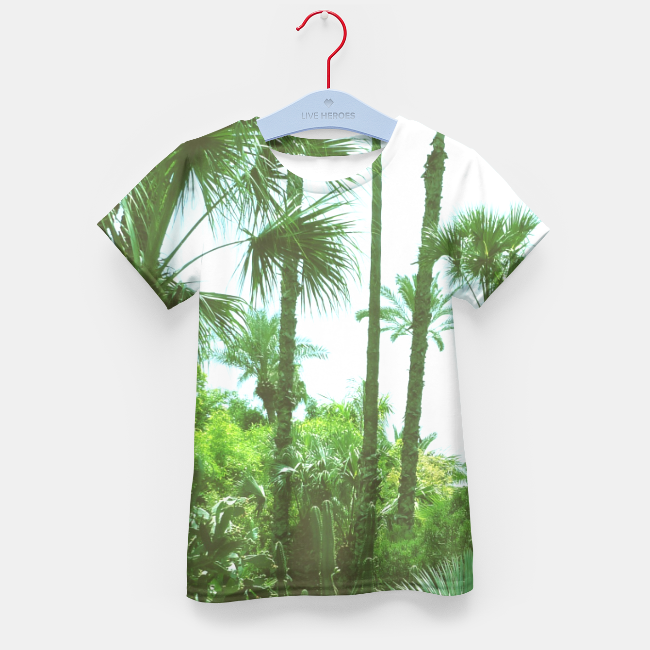 Image of Tropical Cacti Gardens and Greenery Kid's T-shirt - Live Heroes