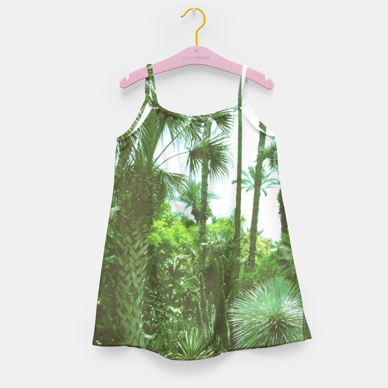 Image of Tropical Cacti Gardens and Greenery Girl's Dress - Live Heroes