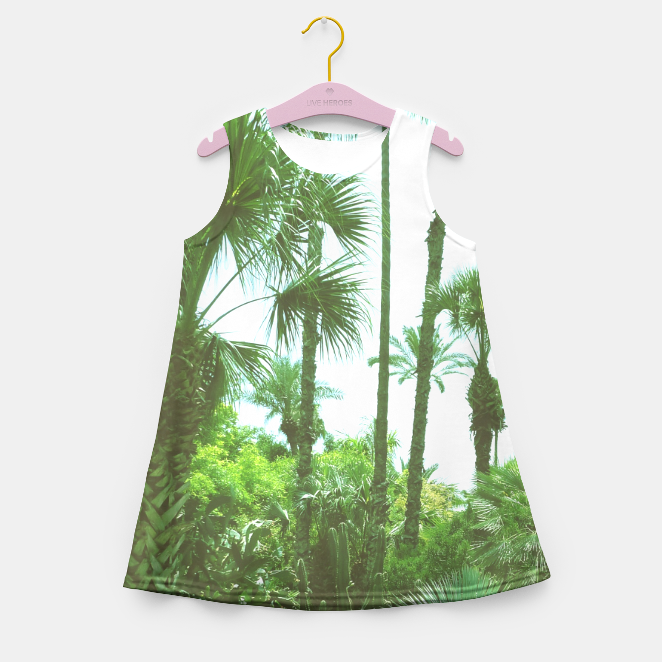 Image of Tropical Cacti Gardens and Greenery Girl's Summer Dress - Live Heroes