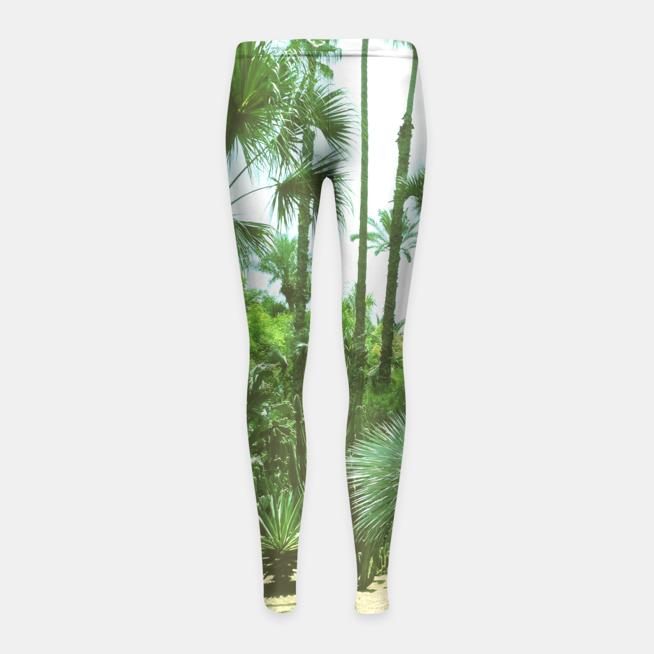 Image of Tropical Cacti Gardens and Greenery Girl's Leggings - Live Heroes