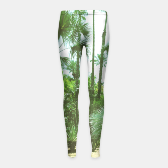 Thumbnail image of Tropical Cacti Gardens and Greenery Girl's Leggings, Live Heroes