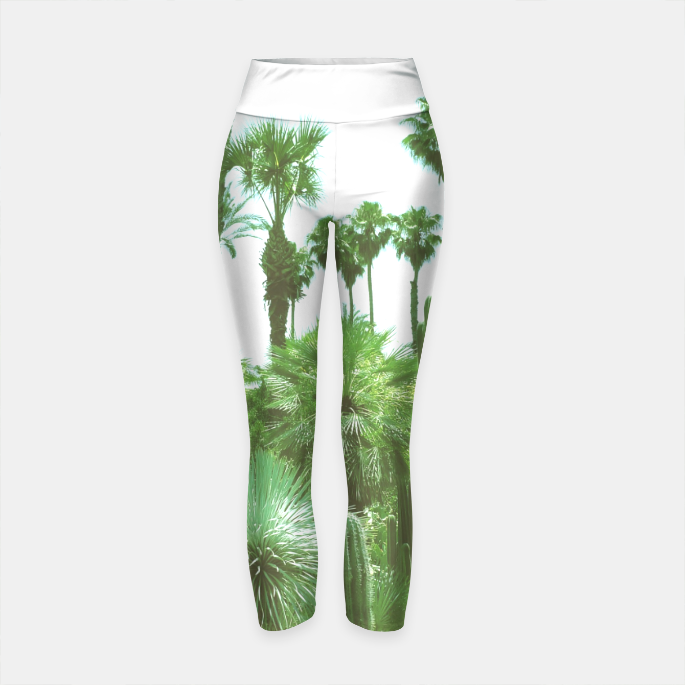 Image of Tropical Cacti Gardens and Greenery Yoga Pants - Live Heroes