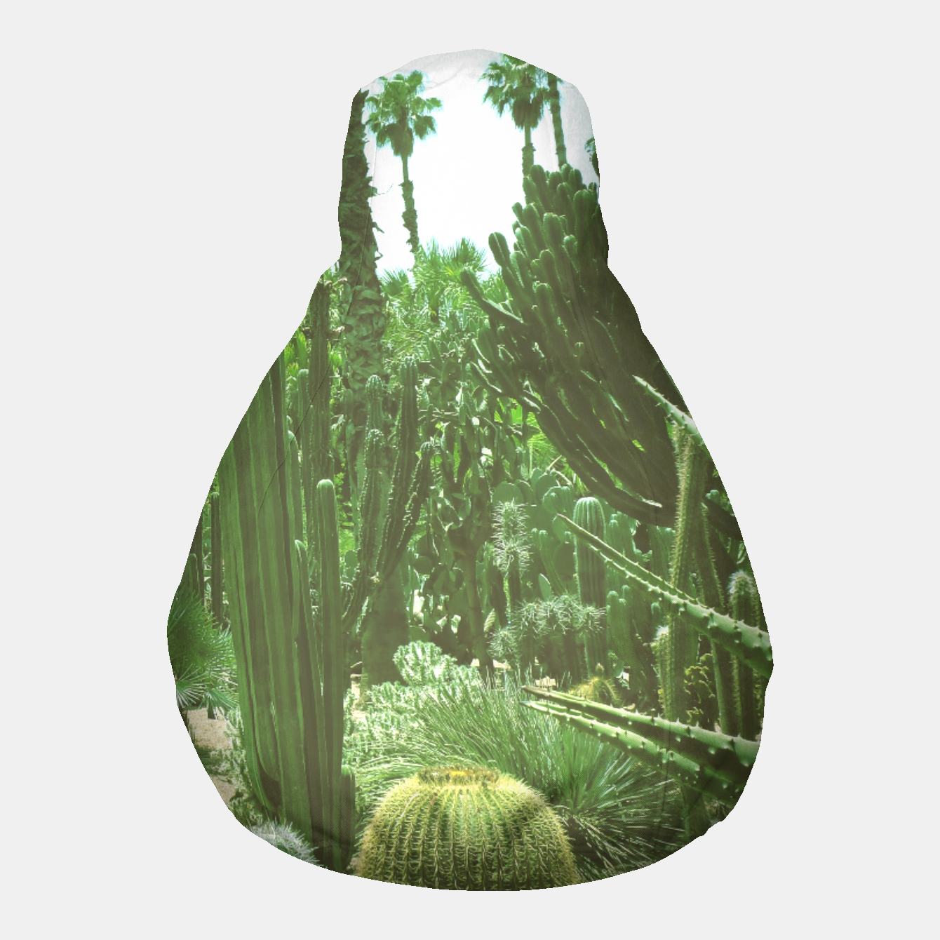 Image of Tropical Cacti Gardens and Greenery Pouf - Live Heroes
