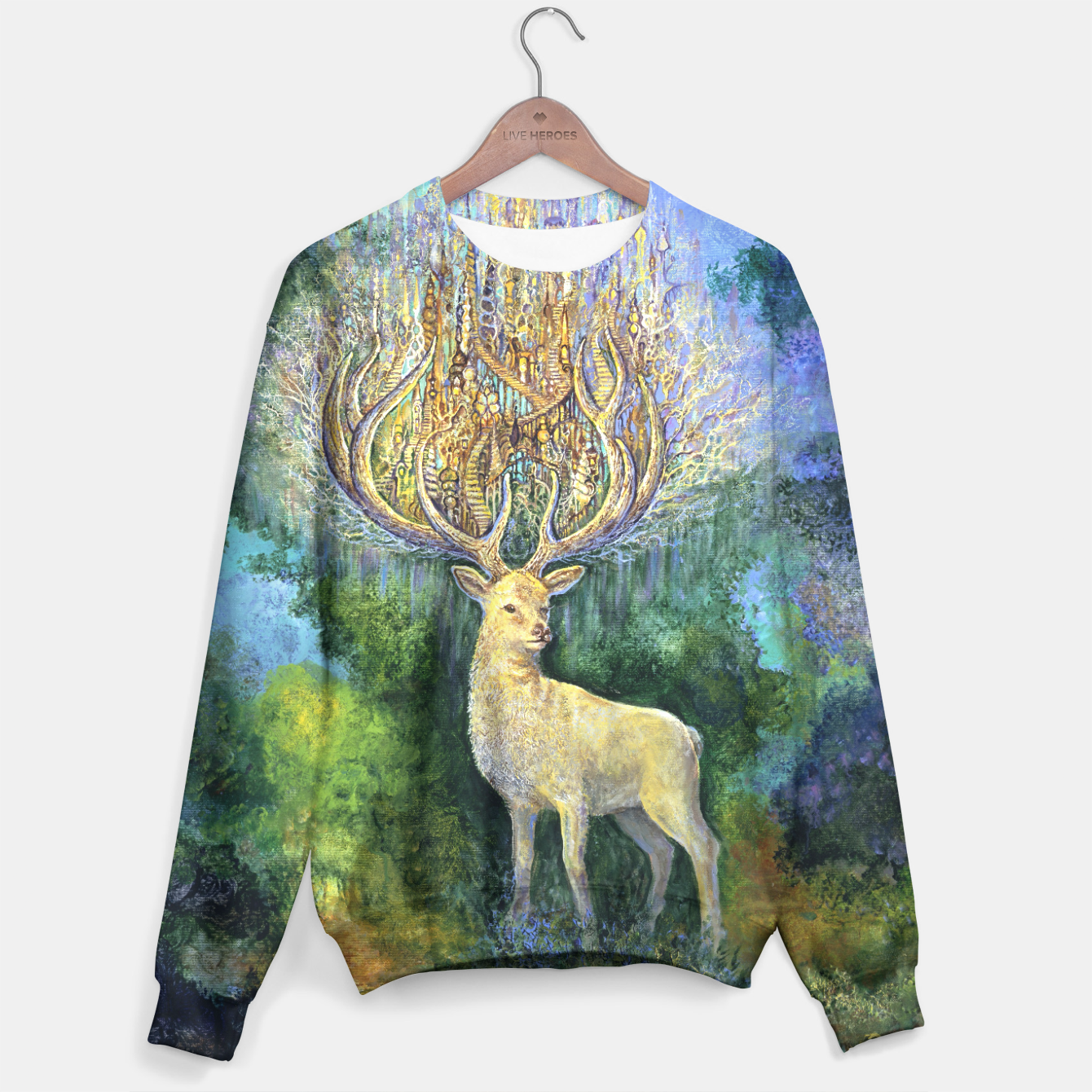Image of The White Hart Sweater - Live Heroes