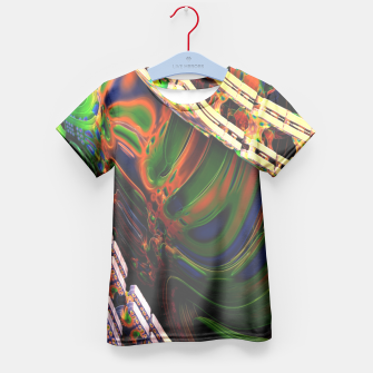 Thumbnail image of 3D Carved Marble Cube Kid's T-shirt, Live Heroes