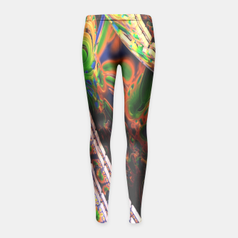 Thumbnail image of 3D Carved Marble Cube Girl's Leggings, Live Heroes