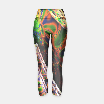 Thumbnail image of 3D Carved Marble Cube Yoga Pants, Live Heroes