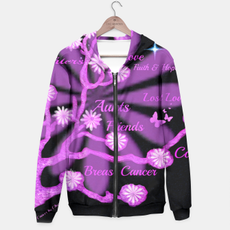 Miniaturka Hoodie Dedicated to Breast Cancer Research, Live Heroes