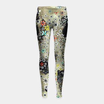 Thumbnail image of Floral Death Girl's Leggings, Live Heroes