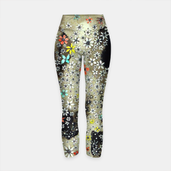 Thumbnail image of Floral Death Yoga Pants, Live Heroes
