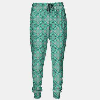 Thumbnail image of Sliced pomegranate, mint & gray bohemian pattern Sweatpants, Live Heroes