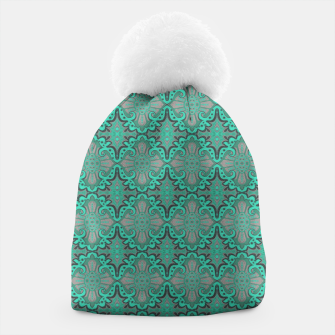 Thumbnail image of Sliced pomegranate, mint & gray bohemian pattern Beanie, Live Heroes