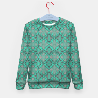 Miniaturka Sliced pomegranate, mint & gray bohemian pattern Kid's Sweater, Live Heroes