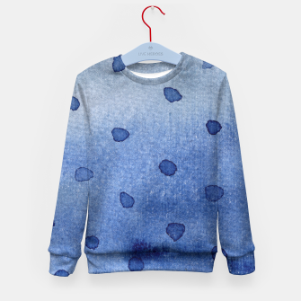 Miniaturka Watercolor polka dot Kid's Sweater, Live Heroes