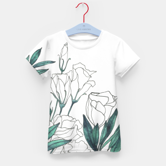 Thumbnail image of Lisianthus Kid's T-shirt, Live Heroes
