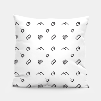Thumbnail image of Twin Peaks Pattern Pillow, Live Heroes