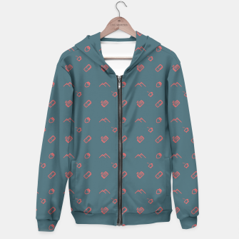 Thumbnail image of Twin Peaks Pattern - color Hoodie, Live Heroes