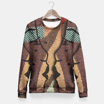 Thumbnail image of African Tapestry Fitted Waist Sweater, Live Heroes