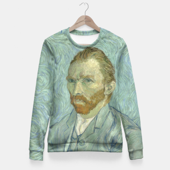 SELF PORTRAiT BY ViNCENT VAN GOGH Fitted Waist Sweater thumbnail image