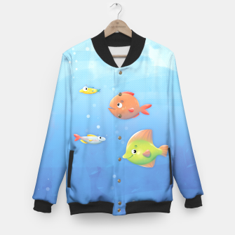 Thumbnail image of Fish Baseball Jacket, Live Heroes