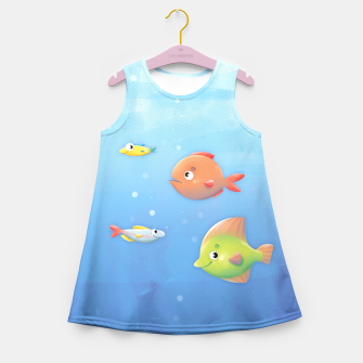 Miniature de image de Fish Girl's Summer Dress, Live Heroes