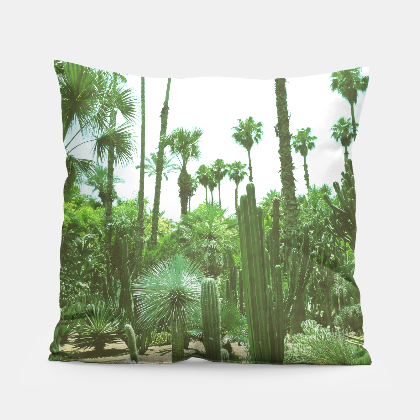 Image of Tropical Cacti Gardens and Greenery Pillow - Live Heroes
