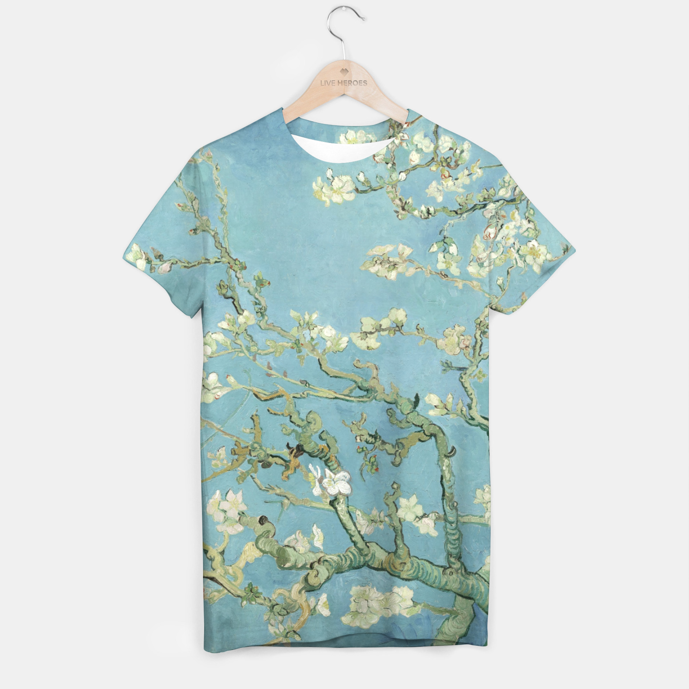 Image of ALMOND BLOSSOM BY ViNCENT VAN GOGH T-shirt - Live Heroes