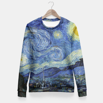 STARRY NiGHT BY ViNCENT VAN GOGH Fitted Waist Sweater thumbnail image