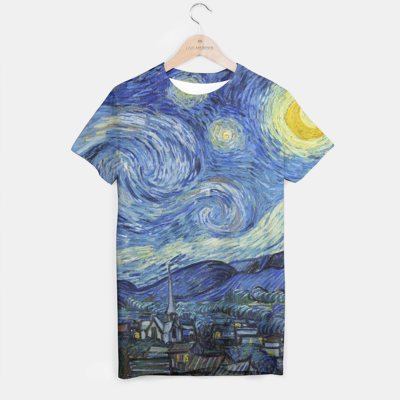 Image of STARRY NiGHT BY ViNCENT VAN GOGH T-shirt - Live Heroes