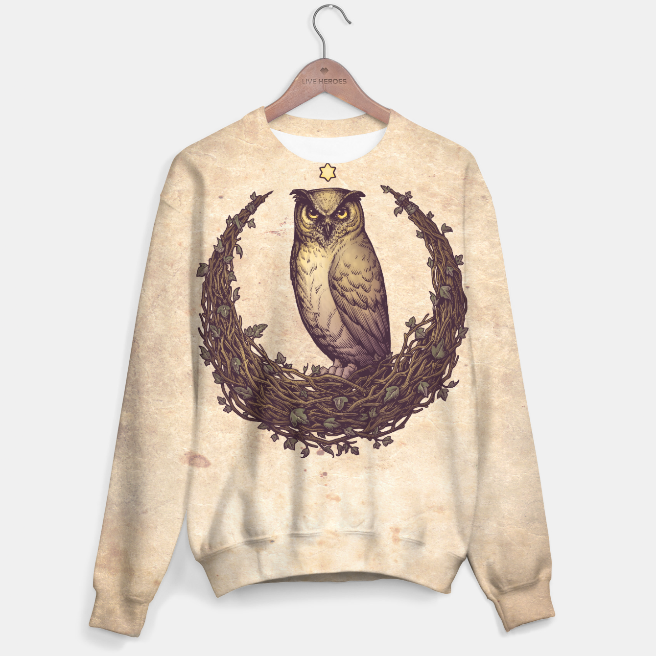Image of Owl Hedera Moon Sudadera - Live Heroes