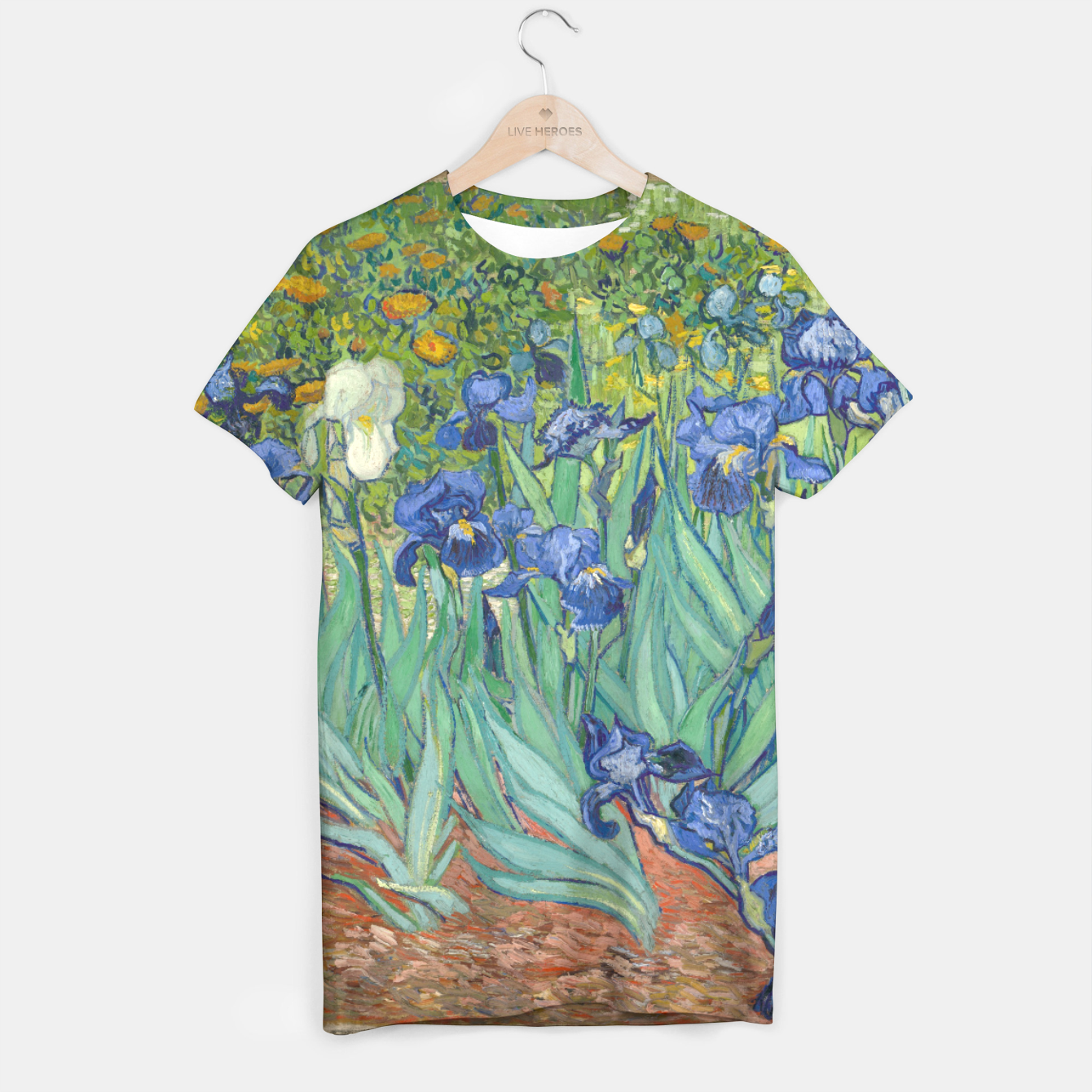 Image of iRiSES BY ViNCENT VAN GOGH T-shirt - Live Heroes