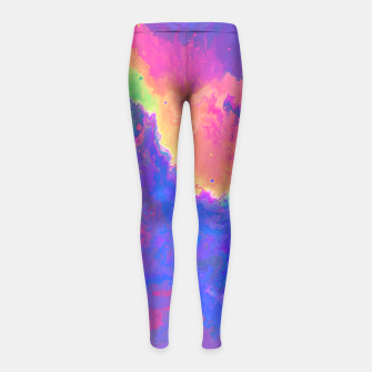 Thumbnail image of Chasin' Colors Girl's Leggings, Live Heroes