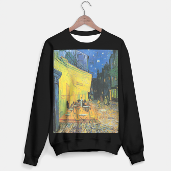 CAFE TERRACE AT NiGHT BY ViNCENT VAN GOGH Sweater regular thumbnail image