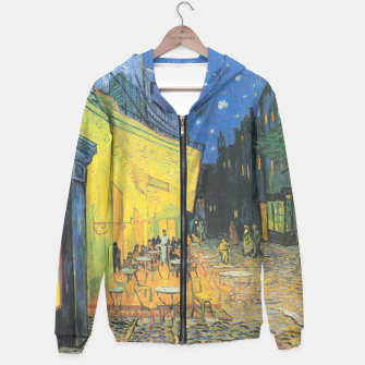 CAFE TERRACE AT NiGHT BY ViNCENT VAN GOGH Hoodie thumbnail image
