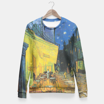 CAFE TERRACE AT NiGHT BY ViNCENT VAN GOGH Fitted Waist Sweater thumbnail image