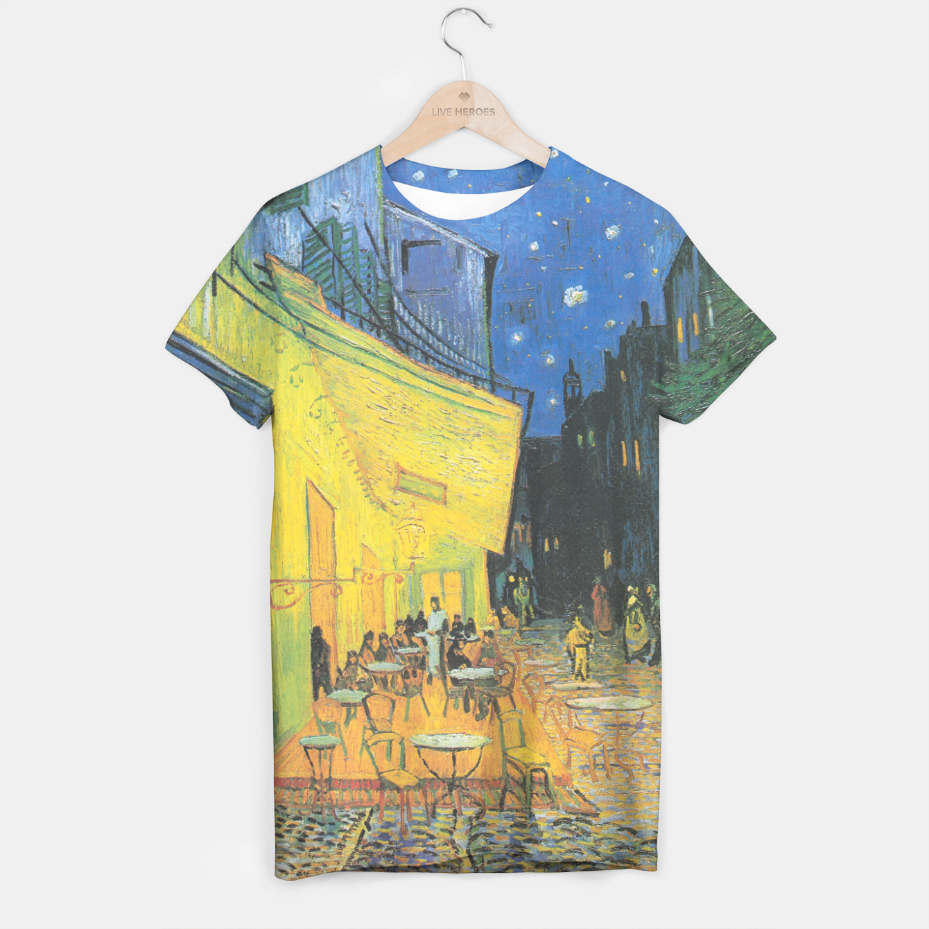 Image of CAFE TERRACE AT NiGHT BY ViNCENT VAN GOGH T-shirt - Live Heroes