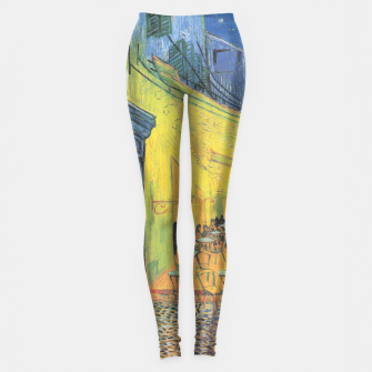 CAFE TERRACE AT NiGHT BY ViNCENT VAN GOGH Leggings thumbnail image