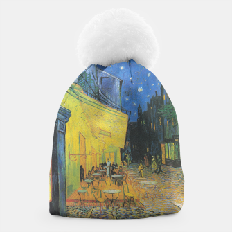 CAFE TERRACE AT NiGHT BY ViNCENT VAN GOGH Beanie thumbnail image