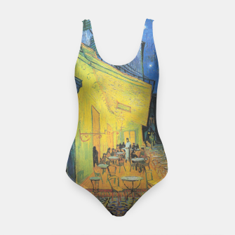 CAFE TERRACE AT NiGHT BY ViNCENT VAN GOGH Swimsuit thumbnail image